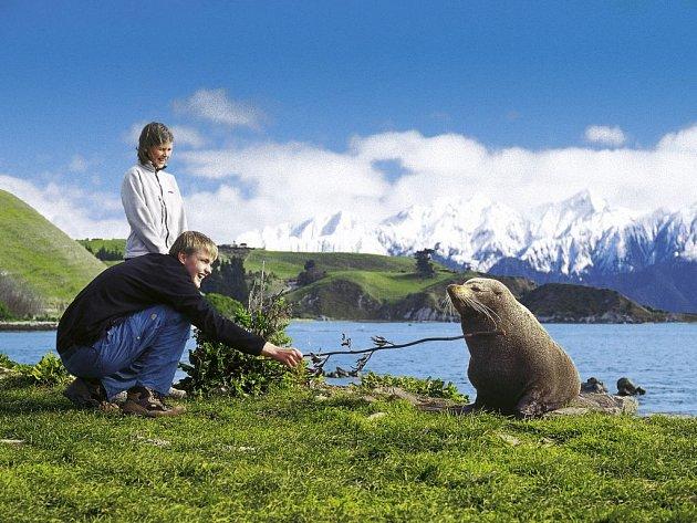 Lenka Šimánková se synem na Novém Zélandu
