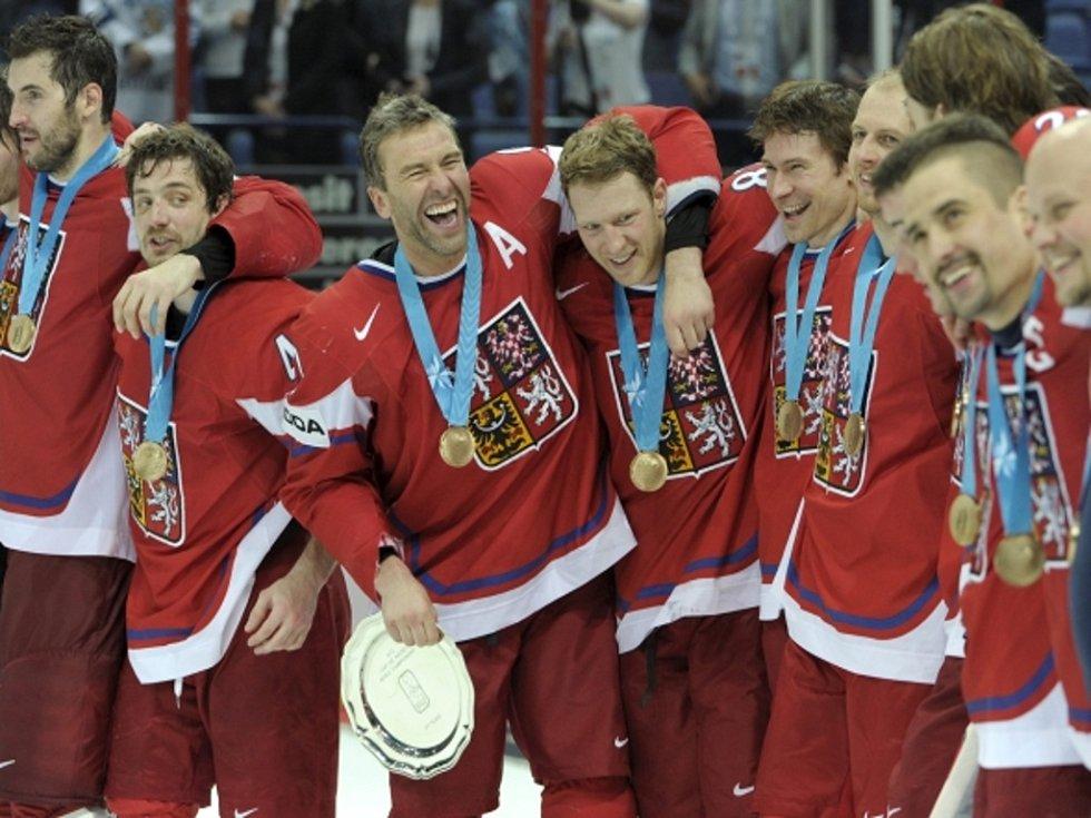 Čeští hokejisté získali na mistrovství světa bronzové medaile.