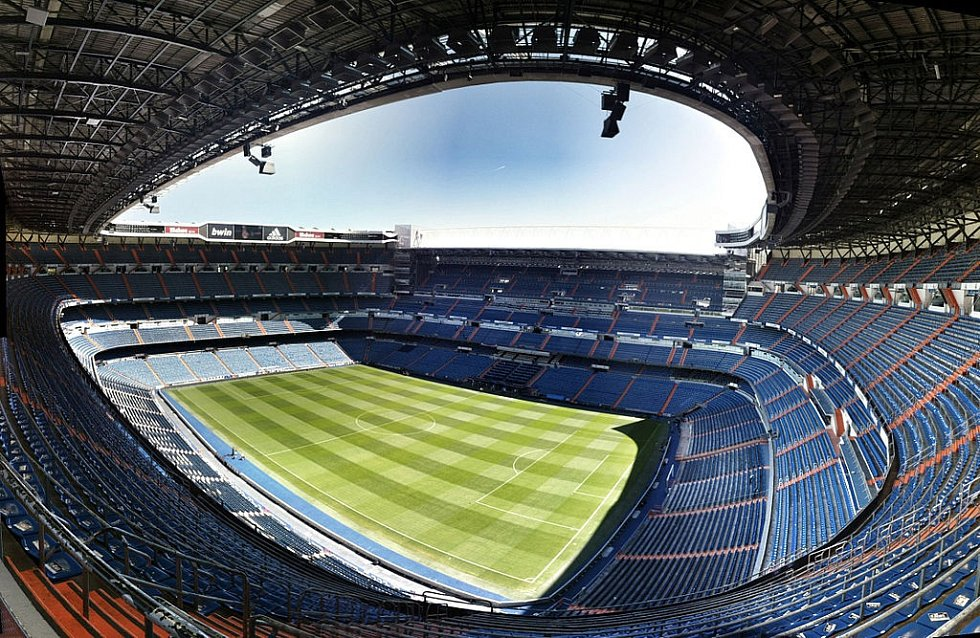 Santiago Bernabéu, legendární stánek Realu Madrid.