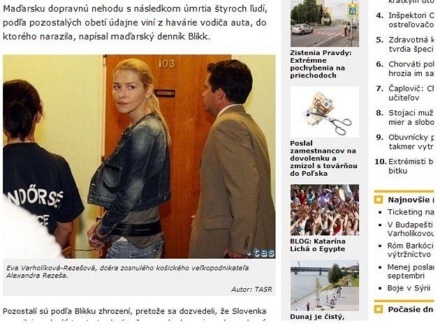 Milionářka Rezešová při nehodě na maďarské dálnici podle obžaloby zavinila smrt čtyř lidí.