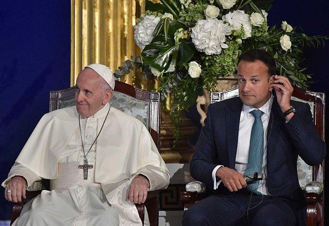 Papež František a irský premiér Leo Varadkar