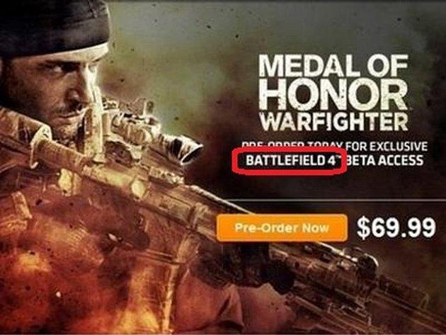 Reklamní poutač prozrazující Battlefield 4.