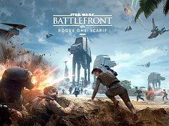 Počítačová hra Star Wars: Battlefron -  Rogue One: Scarift.
