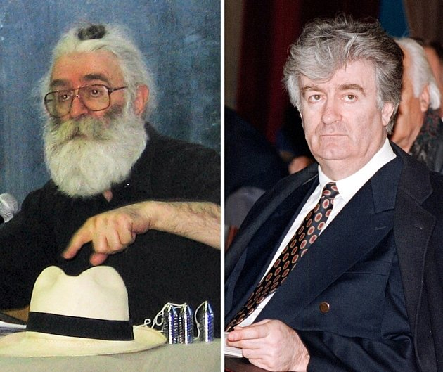 Karadžić zásadně změnil během svého 13letého útěku před spravedlností podobu (vpravo je fotografie z 90. let).