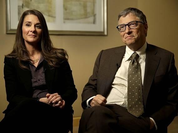 Spoluzakladatel společnosti Microsoft Bill Gates a jeho žena Melinda.