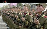 Oslavy 105. výročí narození Kim Ir-sena v KLDR.