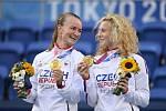 Barbora Krejčíková a Kateřina Siniaková se zlatými medailemi.