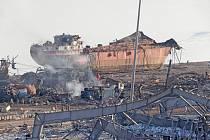 Následky exploze v libanonském Bejrútu