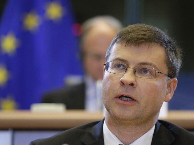 Místopředseda Evropské komise Valdis Dombrovskis.