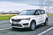 Chystaný malý crossover Škody podle představ německého Auto Bildu z roku 2015.