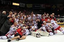 Hokejisté Třince se stali hokejovými mistry republiky.