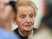 Madeleine Albrightová v Terezíně.