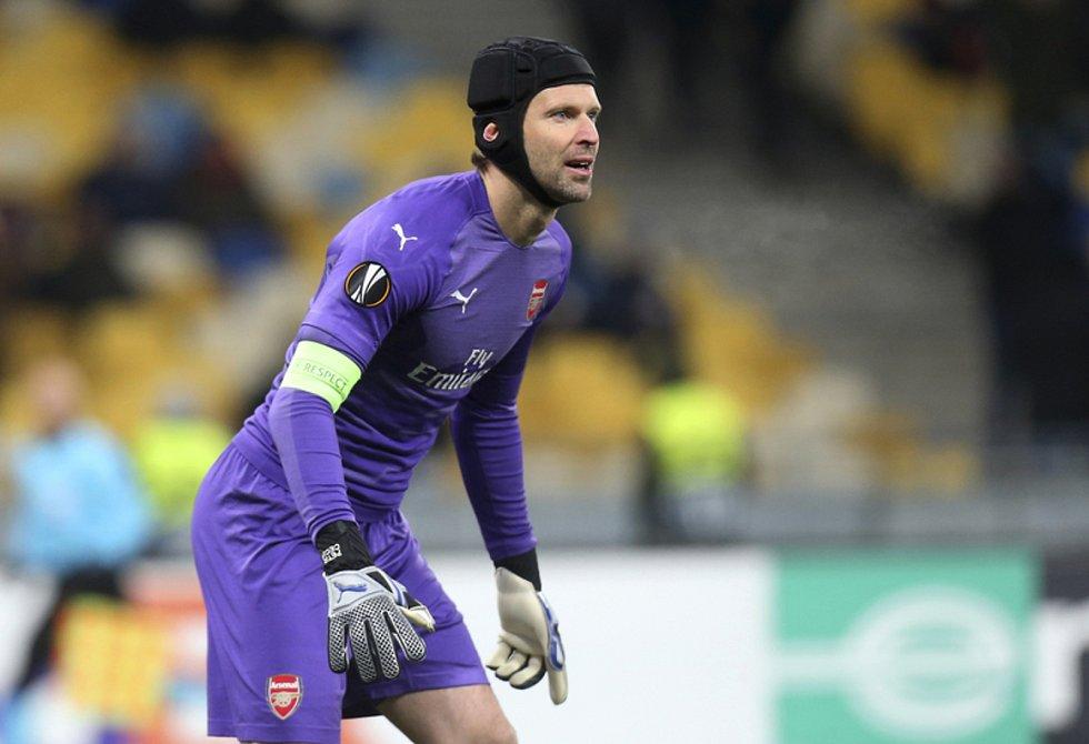 Brankář Arsenalu Petr Čech