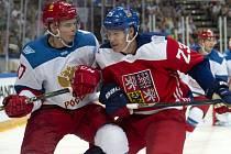 Dmitrij Jaškin (vpravo) a Alexej Marčenko z Ruska.