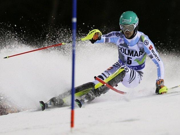 Felix Neureuther ve slalom SP v Madonně di Campiglio.