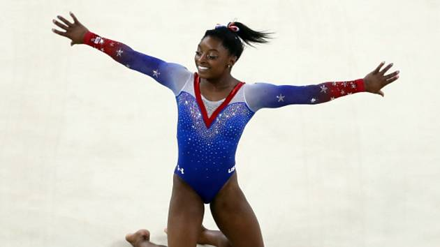 Gymnastka Simone Bilesová získala na olympijských hrách v Riu čtyři zlaté.