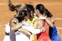 Italské tenistky slaví, počtvrté během sedmi let vyhrály Fed Cup.