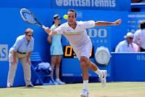 Radek Štěpánek na turnaji v Londýně.