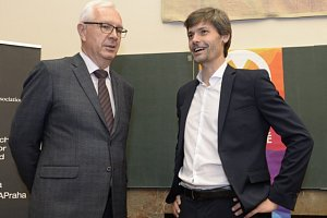 Jiří Drahoš (vlevo) a Marek Hilšer.
