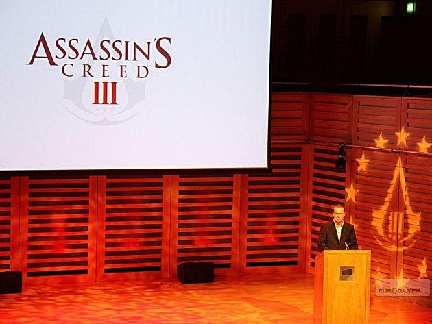 Přednáška o tvorbě počítačové hry Assassins Creed 3 se konala v budově King´s Place v Londýně.