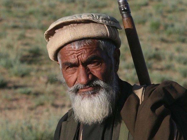 Člen afghánské ozbrojené stráže.