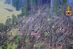 Následky řádění přírodních živlů v Itálii.