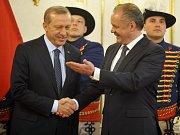 Slovensko má porozumění pro úsilí Turecka o vstup do Evropské unie. Prohlásil to dnes slovenský prezident Andrej Kiska po schůzce s tureckou hlavou státu Recepem Tayyipem Erdoganem, který je na návštěvě Slovenska.