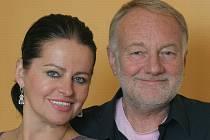 Luděk Sobota se svou ženou Adinou