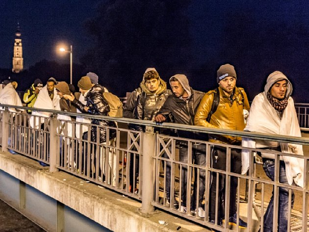 Do Německa přišlo od začátku roku 200.000 uprchlíků. Ilustrační foto.
