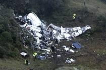 Trosky letadla, které se zřítilo ve střední Kolumbii.