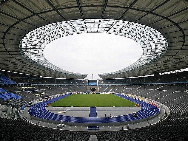 Olympijský stadion v Berlíně, dějiště MS v atletice 2009.