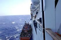 Ve Středozemním moři dnes pod vedením evropské agentury Frontex začala operace Triton, která má monitorovat pohyb nelegálních uprchlíků směřujících z Afriky do Evropy. Ilustrační foto.