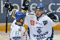 Radost vítkovických hokejistů neznala mezí. Nejen že porazili Slavii na jejím ledě, ale navíc se jako bonus posunuli do čela hokejové O2 extraligy.