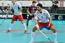 Tomáš Sladký při utkání s Lotyšskem.
