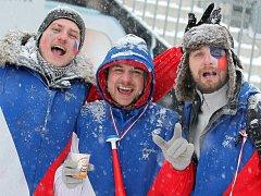 Fanoušci během víkendových závodů Světového poháru na Vysočině