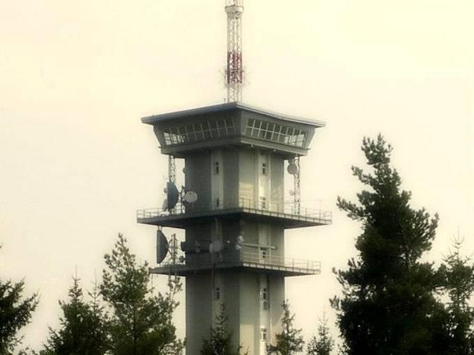 Televizní vysílač na Zelené hoře u Chebu.
