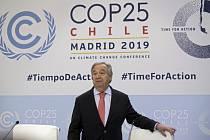 Generální tajemník OSN António Guterres den před zahájením Konference OSN o změnách klimatu v Madridu (snímek z 1. prosince 2019)
