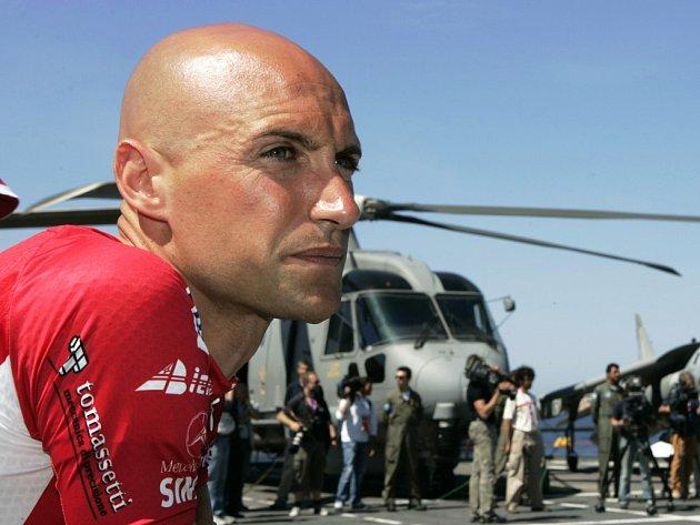 Vítěz sobotní etapy Stefano Garzelli.
