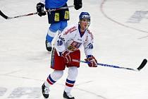 Roman Červenka v zápase Euro Hockey Tour proti Finsku.
