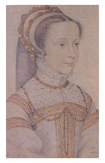 Marie Stuartovna v době, kdy byla provdána za francouzského krále. Na francouzském dvoře byla oblíbená.