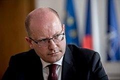 Premiér Bohuslav Sobotka poskytl 2. května v Praze rozhovor Deníku.