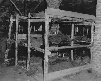 Takto vypadaly prostory, v nichž vězni spali