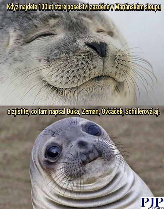 Ke slovu se dostaly oblíbené memy, naplněné novým obsahem