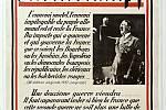 """Francouzské vydání Hitlerova Mein Kampf. Hitlerova slova hovoří o """"smrtelném, nemilosrdném nepříteli německého lidu"""""""