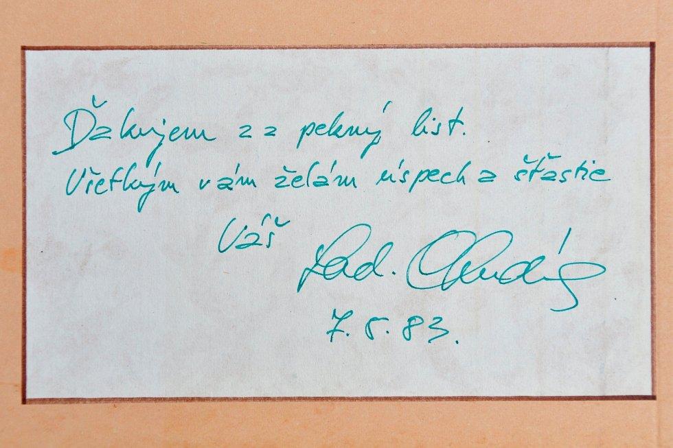 Autogram herce Ladislava Chudíka.