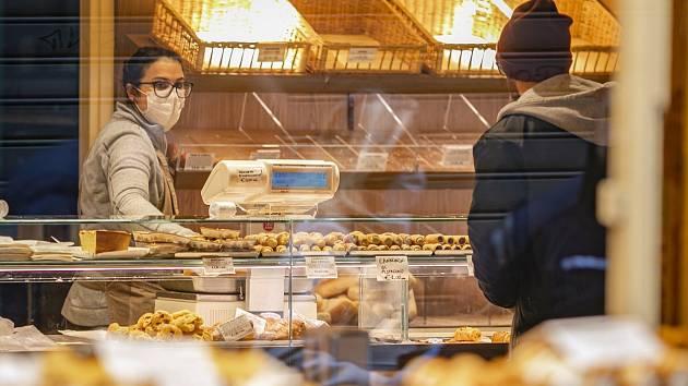 Pekařství v italském Bergamu