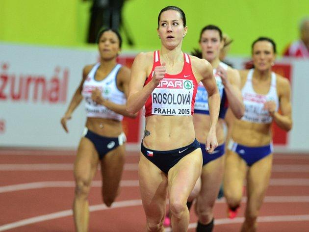 Denisa Rosolová na halovém mistrovství Evropy v Praze.