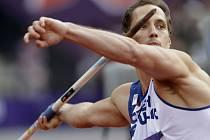Oštěpař Vítězslav Veselý ve finále olympijských her v Londýně.