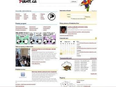 Webová stránka Piráti.cz
