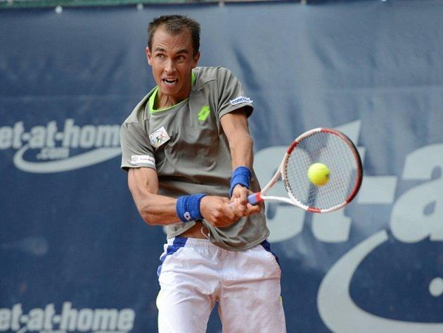 Lukáš Rosol na turnaji v Hamburku.